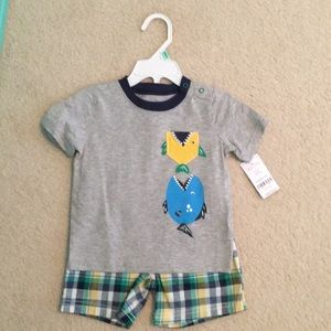 NWT Carter's Boy's 2 piece outfit- 18 months